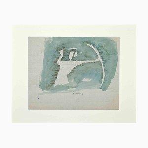 Mino Maccari, The Archer, Mid-20th Century, Original Watercolor