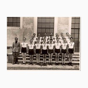Unknown, Team in Soldiership in Turin, Vintage B/W Photo, 1930s