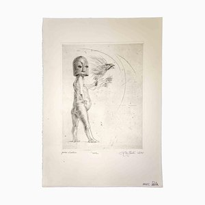 Leo Guida, The Flight, 1970, Original Radierung