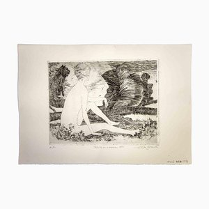 Leo Guida, Sibyl with the Lioness, 1970, Original Etching