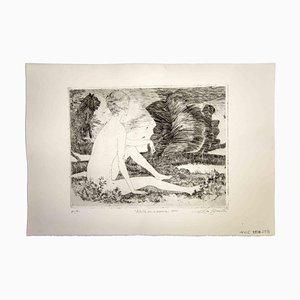 Leo Guida, Sibylle mit der Löwin, 1970, Original Radierung