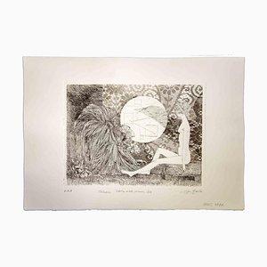 Leo Guida, Charla, Sibila y mono con velo, 1970, Grabado original