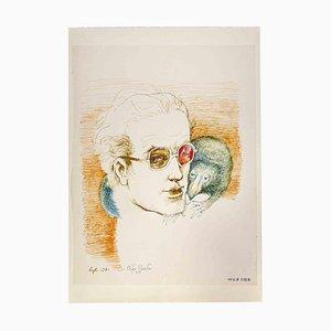 Leo Guide, retratos, tinta china, años 70