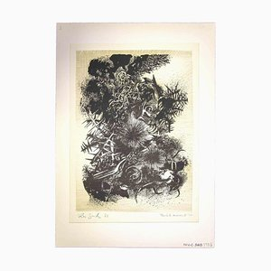 Leo Guida, Meeresboden, 1970er, Originalzeichnung
