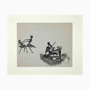 Unbekannt, The Dance, Mitte des 20. Jahrhunderts, Original Aquarell