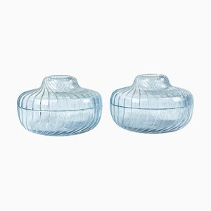 Vintage Glass Containers, Italy, 1970s, Set of 2
