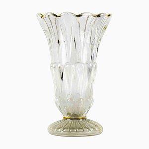 Jarrón vintage de vidrio