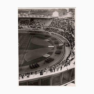 Unknown, Military Show in the Stadium, Vintage B/W Photo, 1930s