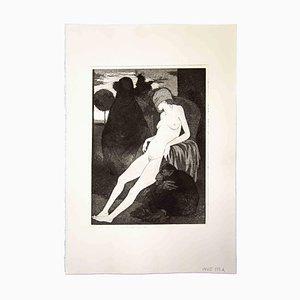Leo Guida, Sibila con los ojos vendados, 1970, Grabado original
