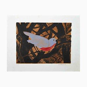 Serigrafía original de Giselle Halff, The Bird, finales del siglo XX
