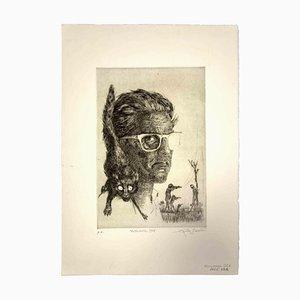 Leo Guide, Selbstporträt, 1965, Originaldruck