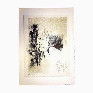 Leo Guide, Portrait, 1965, Impresión original