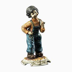 Vintage Ceramic Child Sculpture, Mid-20th Century