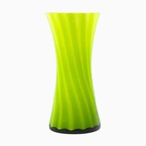 Vintage Green Glass Vase, 1970s