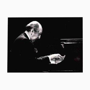 Desconocido, retrato de Vladimir Horowitz, años 80, fotografía vintage en blanco y negro