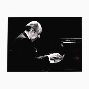 Unknown, Portrait of Vladimir Horowitz, 1980s, Vintage B/W Photo