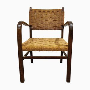 Vintage Armchair in Paper Cord, 1950s