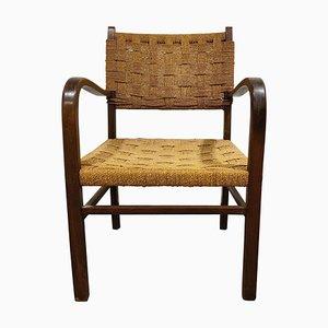 Vintage Sessel aus Papierkordel, 1950er