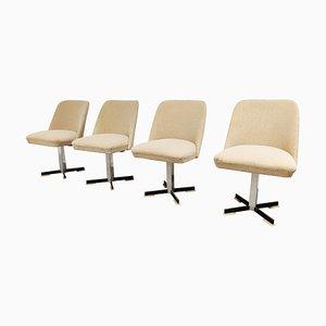 Mid-Century Swivel Chairs, 1960s, Set of 4