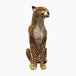 Leopardo vintage de cerámica, años 70