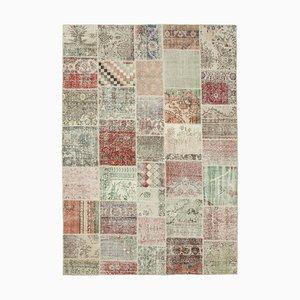 Alfombra multicolor de patchwork