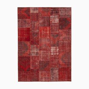 Red Patchwork Rug