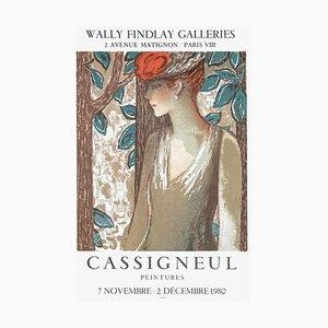 Expo 80 Wally Findlay Galleries Paris Plakat von Jean Pierre Cassigneul