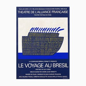 Théatre de l'Alliance Française Le Voyage au Brésil Plakat von Jean Michel Folon