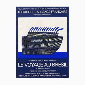 Théatre de l'Alliance Française Le Voyage au Brésil Poster by Jean Michel Folon