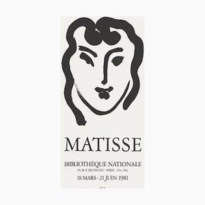 Póster Expo 81 Bibliothèque Nationale de Henri Matisse
