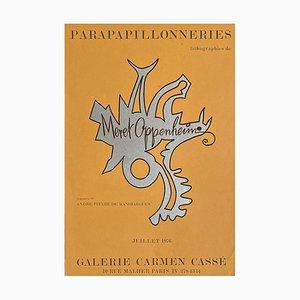 Expo 76 Galerie Carmen Cassé Parapapillonneries Plakat von Meret Oppenheim