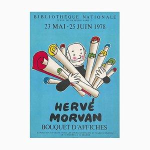 Expo 78 Bibliothèque Nationale Bouquet d'affiches Poster by Hervé Morvan
