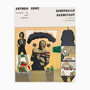 Expo 69 Kunsthalle Darmstadt Poster by Antonio Segui