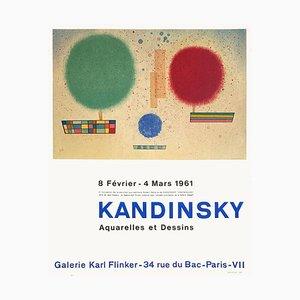 Expo 61 Galerie Karl Finkler Interférences Robert Delpire Plakat von Wassily Kandinsky