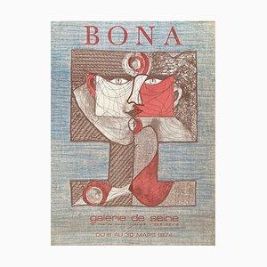 Expo 74 Galerie de Seine Poster von Bona de Mandiargues