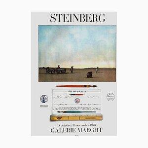 Expo 73 Galerie Maeght Poster von Saul Steinberg