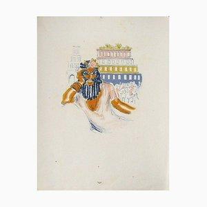 La Princesse de Babylone 02 (Essai 6) von Kees Van Dongen