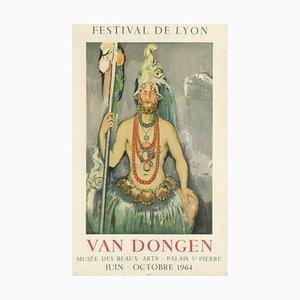 Expo 64 Festival De Lyon Poster by Kees Van Dongen
