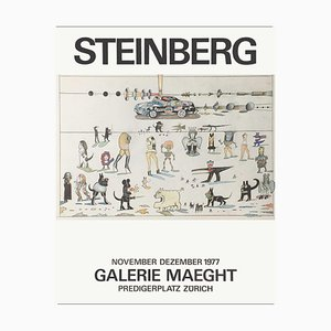 Expo 77 Galerie Meeght Zürich Plakat von Saul Steinberg
