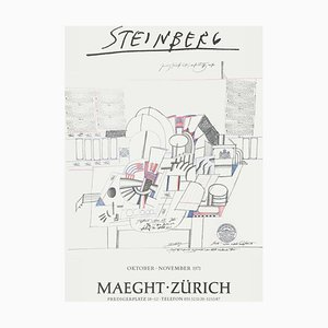 Expo 71 Maeght Zürich Poster by Saul Steinberg