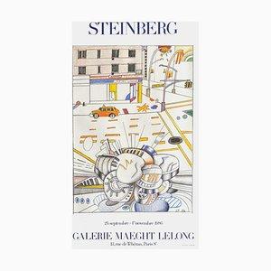 Expo 86 Galerie Maeght Lelong Poster von Saul Steinberg