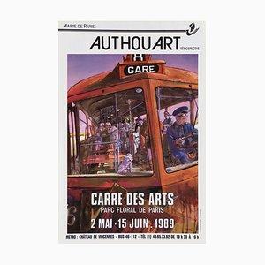 Expo 89 Carré des Arts Parc Floral Poster von Daniel Authouart