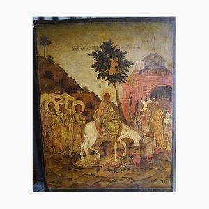 La imagen del antiguo templo la entrada del Señor en Jerusalén, Rusia