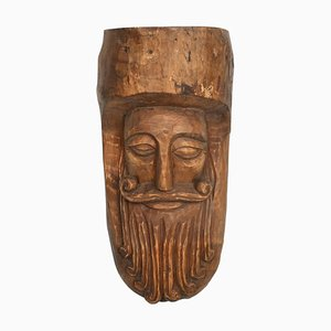 Hand-Carved Wooden Mask