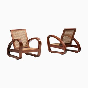 French Art Deco Lounge Chairs, Set of 2