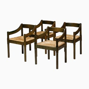 Carimate Dining Chairs in Lacquered Beech by Vico Magistretti for Cassina