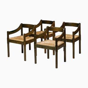 Carimate Esszimmerstühle aus lackierter Buche von Vico Magistretti für Cassina