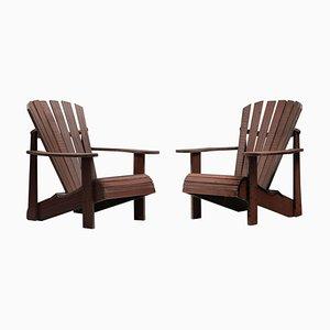 Hand-Crafted Garden Adirondack Lounge Chair