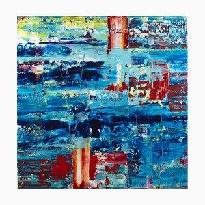 Blue Dream, acrílico sobre lino, 2021