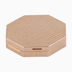 Blush Porta Cipria de oro amarillo de 18 quilates